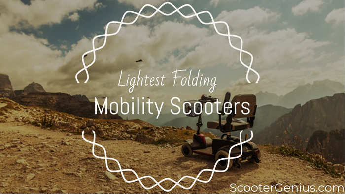 lightest folding mobility scooter